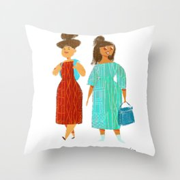 Tourists in Europe Throw Pillow