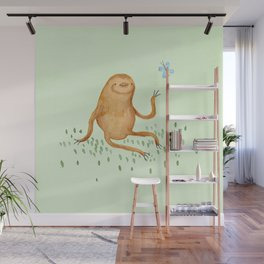 Sloth & Butterfly Wall Mural