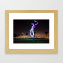 Bliss Dance Statue - Treasure Island Framed Art Print