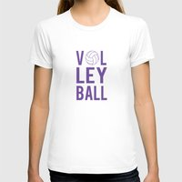 volleyball T-shirts featuring Volleyball (lavendar) by raineon
