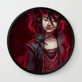 Devil (#Drawlloween2016 Series) Wall Clock