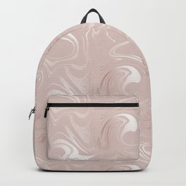 Rose gold blush marbled glittery trendy pattern Backpack