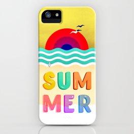 037 HOT SUMMER on the beach iPhone Case
