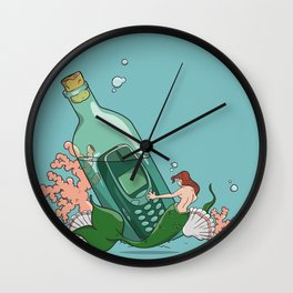 Modern Message In A Bottle Wall Clock