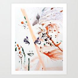 Tiger Lady Art Print