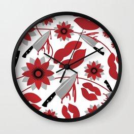 Lustful Pattern2 Wall Clock