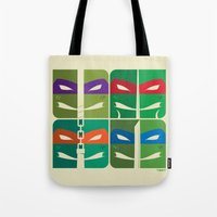 tmnt Tote Bags featuring TMNT by Szoki