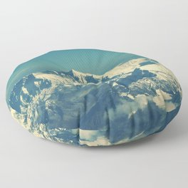 everest mountain sky tops Floor Pillow