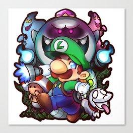 Luigi's Mansion Badge Canvas Print