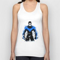 nightwing Tank Tops featuring Nightwing by fouur