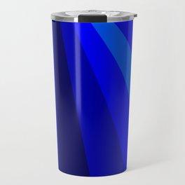 Blue Christmas Star Travel Mug