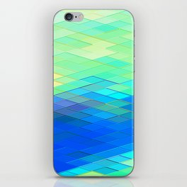 Re-Created Vertices No. 32 by Robert S. Lee iPhone Skin