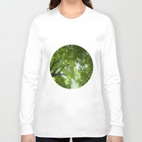 jewish Long Sleeve T-shirts featuring Leaves and Lace by Brown Eyed Lady