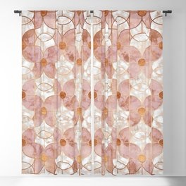 Rose Gold Art Deco Butterfly Pattern Blackout Curtain