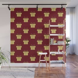 Christmas gifts - red and gold Wall Mural
