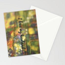 I love my husband Stationery Cards