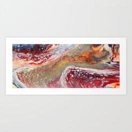 Fiery closeup Art Print