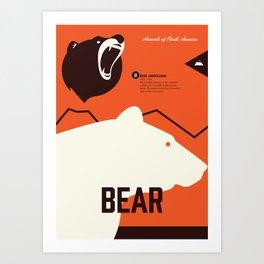 Wildlife of North America: Bear Art Print