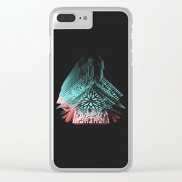 Fake Native Geometry Clear iPhone Case