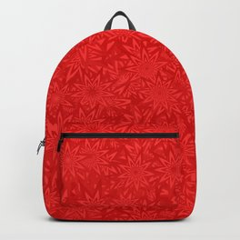 Red geometric star pattern Backpack