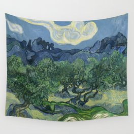 Vincent van Gogh - Olive Trees in a Mountainous Landscape Wall Tapestry