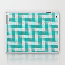 LIght Sea Green Buffalo Plaid Laptop & iPad Skin