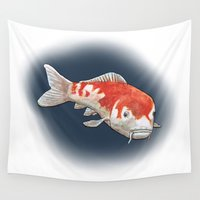 koi Wall Tapestries featuring Koi by Ken Coleman