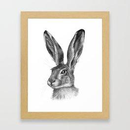 Cute Hare portrait G126 Framed Art Print