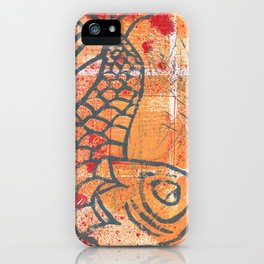 orange carp iPhone Case