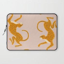 Leopard Race - pink Laptop Sleeve