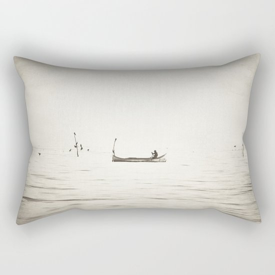 The Lonely Man and The Infinite Sea Rectangular Pillow
