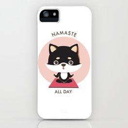 Yoga Shiba Inu Dog iPhone Case