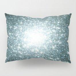 Ash Naples Blue Teal Galaxy Sparkle Stars Pillow Sham