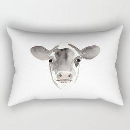 Watercolor Cow Rectangular Pillow
