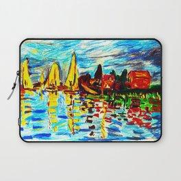 Monet Regatta at Argenteuil Laptop Sleeve