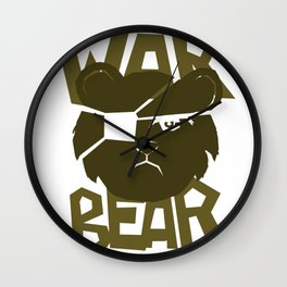 War Bear Wall Clock
