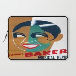 Josephine Baker Vintage Poster for Stockholm Laptop Sleeve