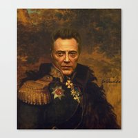 replaceface Canvas Prints featuring Christopher Walken - replaceface by replaceface