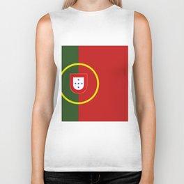 portugal flag Biker Tank