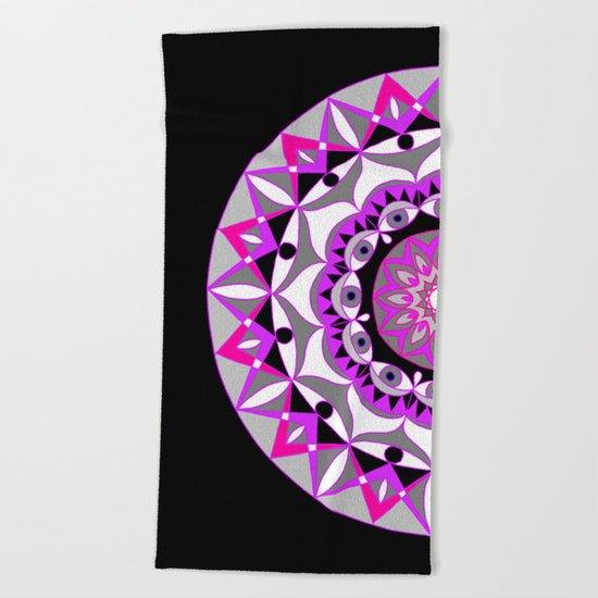 My Love Mandhala | Secret Geometry | Energy Symbols Beach Towel
