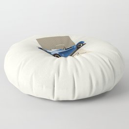 The Classic Game Cheat Code: How do you turn this on Funny Blue Cobra Car Floor Pillow