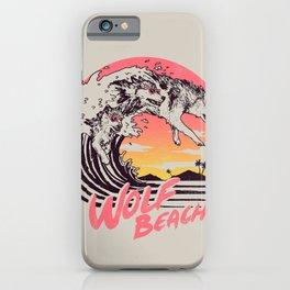 Wolf Beach iPhone Case