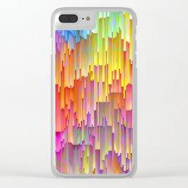 Vibrant Rainbow Cascade Design Clear iPhone Case