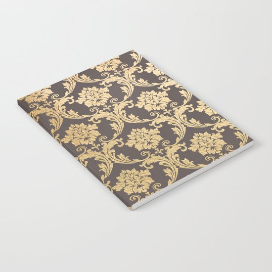 Gold swirls #3 Notebook