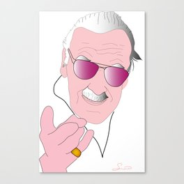 Stan Lee Tribute Canvas Print
