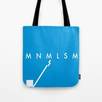 minimalism Tote Bags featuring Minimalism• by Mike•Long