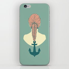 Fish and Anchor iPhone Skin