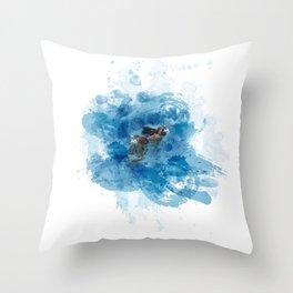Lemurian Peninsula Throw Pillow