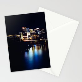 Rosslyn, Virginia reflecting in the Potomac River Stationery Cards