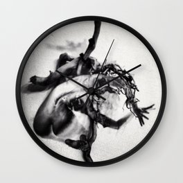 """""""crucifixion of lust"""" Wall Clock"""